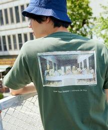 別注プリントART 半袖 Tシャツ/ビッグシルエット アートプリントカットソー/グラフィック カットソー/GIRL WITH A PEARL EARING/VINCENT WILLEM VAN GOGH/THE LAST SUPPERグリーン系その他2