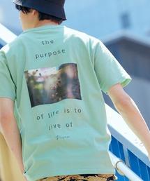 別注プリントART 半袖 Tシャツ/ビッグシルエット アートプリントカットソー/グラフィック カットソー/GIRL WITH A PEARL EARING/VINCENT WILLEM VAN GOGH/THE LAST SUPPERグリーン系その他3