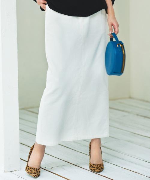 Ranan(ラナン)の「コーデュロイロングスカート(スカート)」 ホワイト