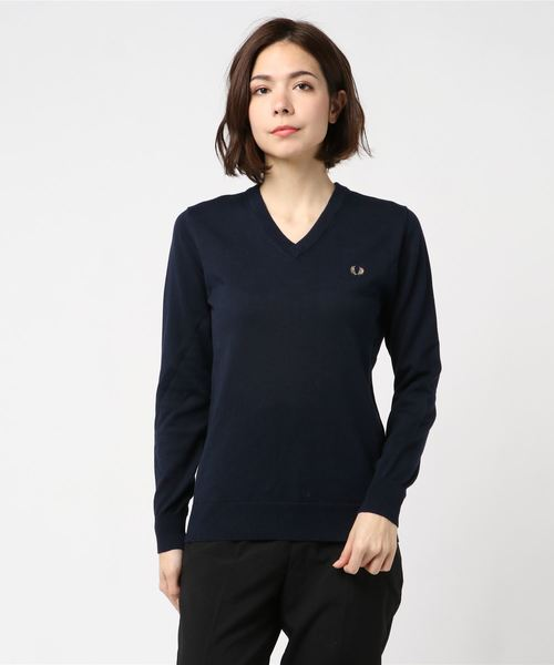 Tipped V Neck Sweater