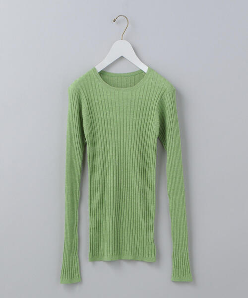 <6(ROKU)>RIB LONG SLEEVE KNIT/ニット ο