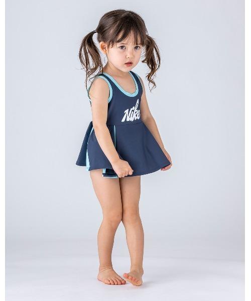 NIKE(ナイキ)の「NIKE/ナイキ/Skirt/プリーツスカートワンピース(水着)」|ネイビー