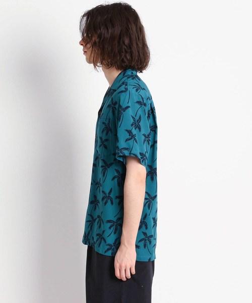 Dessin(デッサン)の「TWO PALMS ヤシの木柄アロハシャツ(シャツ/ブラウス)」|詳細画像