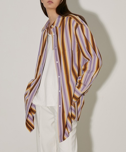 【UNSPOKEN】Multi-striped shirt FAZ20028