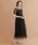 merlot plus(メルロープリュス)の「ドットチュール×レース切替ビスチェ風ワンピース7533(ドレス)」|ブラック