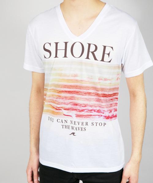 SS/昇華転写プリントVネックTシャツ