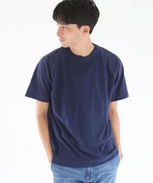 天竺×パイル切替クルーネックTシャツ