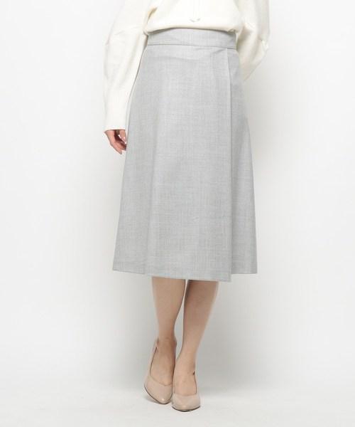 Modify(モディファイ)の「ハイカウントフラノ スカート(スカート)」|グレー