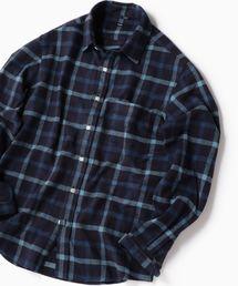 SHIPS(シップス)のSC: フェザー チェック レギュラーカラー ネルシャツ 19FW(シャツ/ブラウス)
