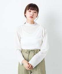 Kastane(カスタネ)のキャミ付きハイネックメロウプルオーバー(Tシャツ/カットソー)