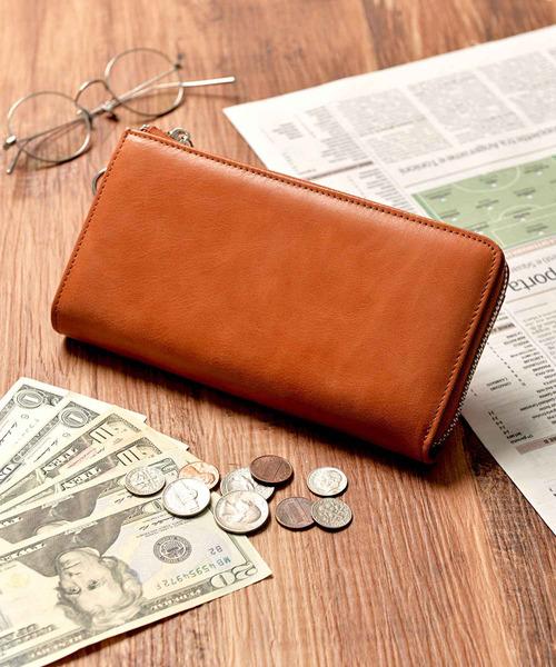 Add+(アッド)の「<Add+>本革 クラシックレザー Lジップ 長財布(財布)」|キャメル