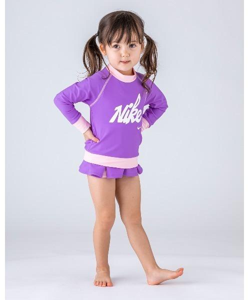 NIKE(ナイキ)の「NIKE/ナイキ/Swimwear/子ども用ラッシュガード(ラッシュガード)」|パープル