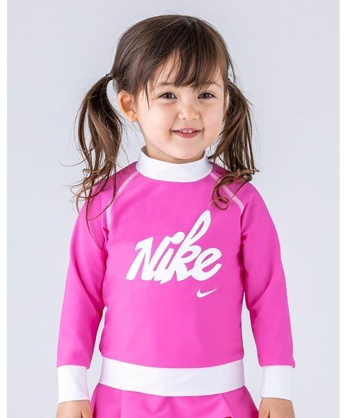 NIKE(ナイキ)の「NIKE/ナイキ/Swimwear/子ども用ラッシュガード(ラッシュガード)」|ピンク