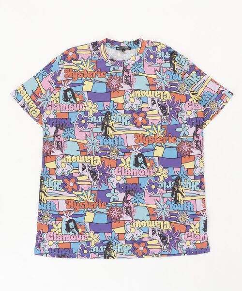 FLOWER GIRL柄 オーバーサイズTシャツ