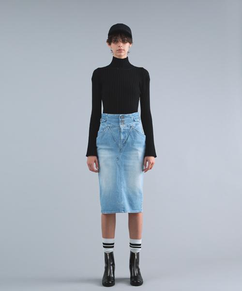 訳あり商品 【セール】Close-up Denim Pockets Pockets Denim Skirt(デニムスカート)|CHRISTIAN DADA(クリスチャンダダ)のファッション通販, だんだら:a0ad45ad --- munich-airport-memories.de