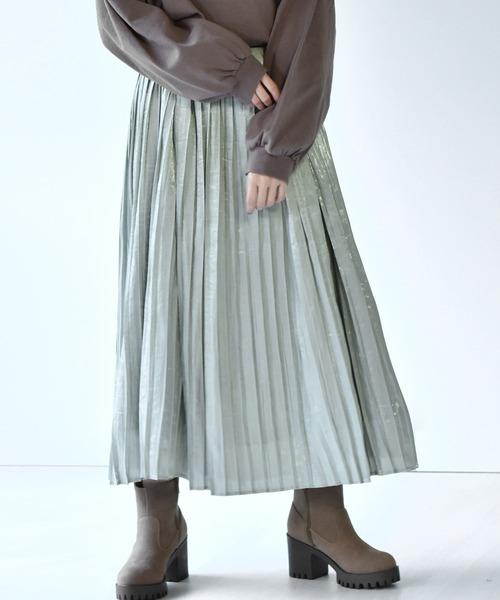 ヴィンテージサテンプリーツスカート