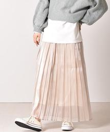 シアーオーガンジースカートオフホワイト