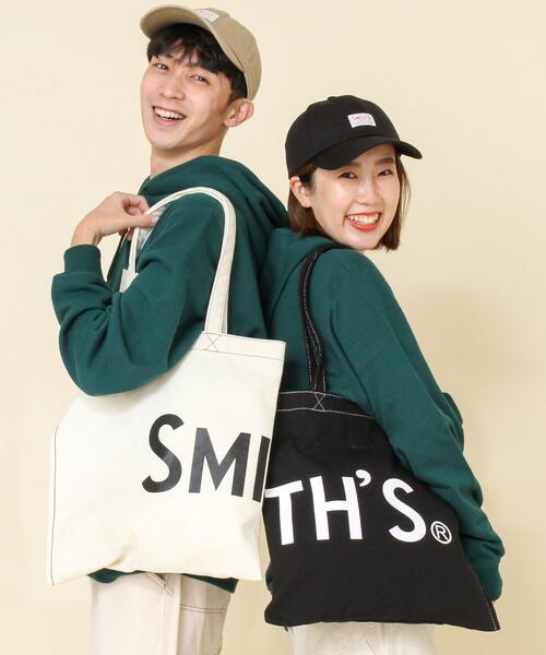 【女性にもオススメ】SMITH'S別注キャンバスロゴトートバッグ