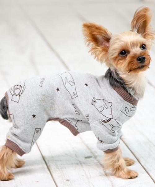 犬と生活/いぬとせいかつ/くまさんロンパース 1号~4号/犬服(ドッグウェア)