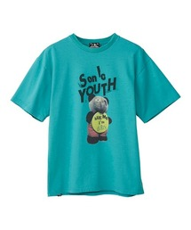 SONIC YOUTH/HUG ME I'M DIRTY Tシャツターコイズブルー