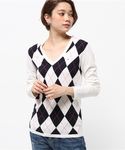 TOMMY HILFIGER | NEW IVY ARGYLE SWEATER(Tシャツ・カットソー)