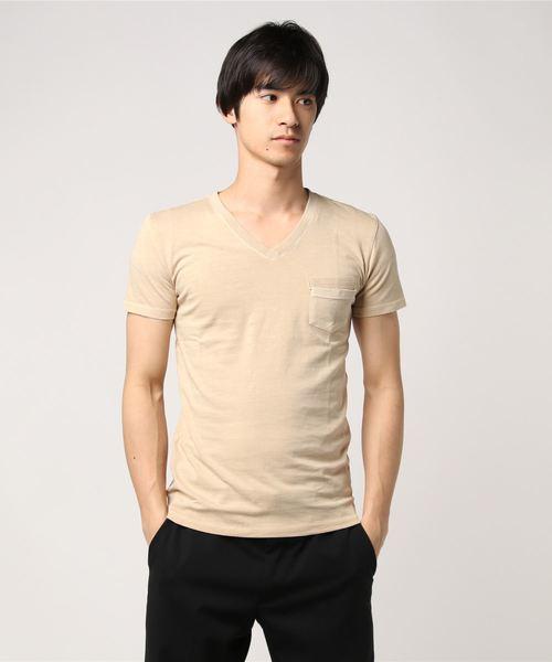 Bling Leads/ピグメントダイポケットTシャツ
