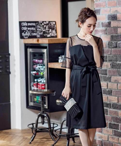 2019年新作入荷 \星玲奈さん着用/ドットチュールレイヤードデザインドレス【結婚式・お呼ばれ・オケージョン・フォーマル対応ワンピースドレス】(ドレス)|darial(ダリアル)のファッション通販, QQ-SMART:c5c7b131 --- 5613dcaibao.eu.org