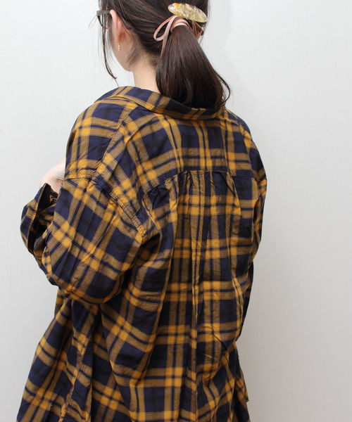 D.M.G / ディーエムジー プロビスコースチェック OLDBIGシャツ 16-550