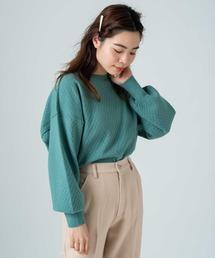 Kastane(カスタネ)のキルティング編みニット-B(ニット/セーター)