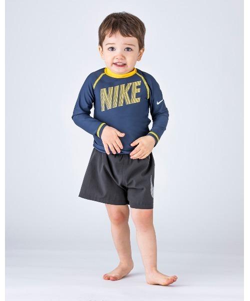NIKE(ナイキ)の「NIKE/ナイキ/Swimwear/子ども用ラッシュガード(ラッシュガード)」 ネイビー
