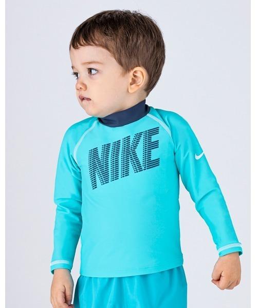 NIKE(ナイキ)の「NIKE/ナイキ/Swimwear/子ども用ラッシュガード(ラッシュガード)」|ターコイズブルー