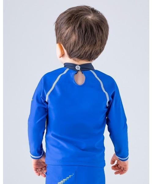 NIKE(ナイキ)の「NIKE/ナイキ/Swimwear/子ども用ラッシュガード(ラッシュガード)」|ブルー
