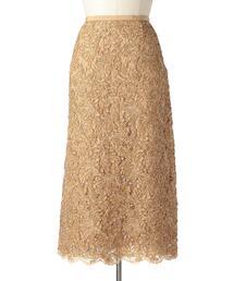 Drawer レーススカラップタイトスカート