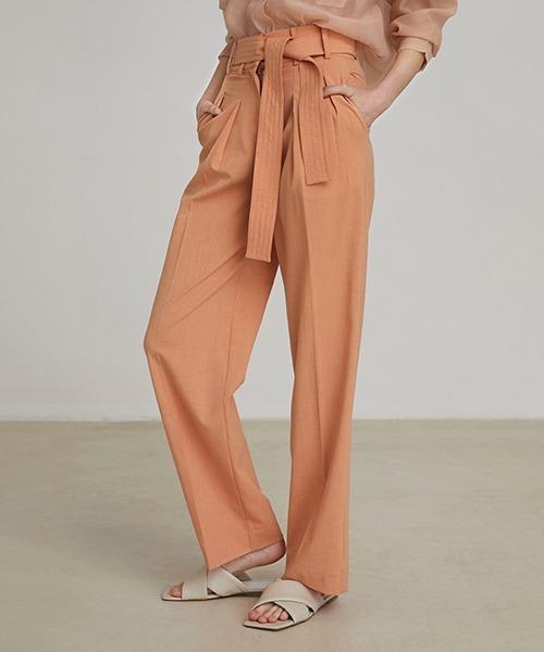 【unspoken】color belted pants FAZ20188chw