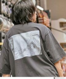 TOM AND JERRY/トムとジェリー 別注 オーバーサイズ レトロデザインプリント半袖Tシャツグレー系その他