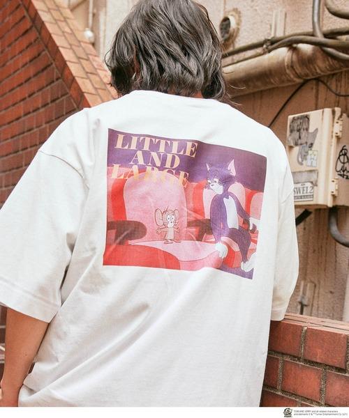 TOM AND JERRY/トムとジェリー 別注 オーバーサイズ レトロデザインプリント半袖Tシャツ