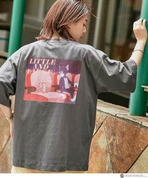 TOM AND JERRY/トムとジェリー 別注 オーバーサイズ レトロデザインプリント半袖Tシャツグレー系その他2