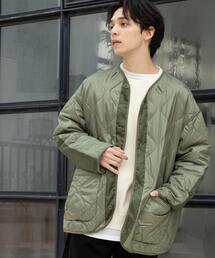【ユニセックス】ミリタリーキルティングジャケット