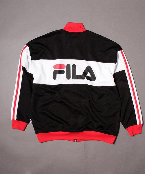 【FILA heritage】ボックスロゴ&ビッグロゴバックプリントトラックジャケット