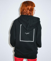 X-girl(エックスガール)のCURSIVE LOGO ZIP UP SWEAT HOODIE(パーカー)