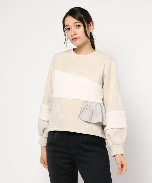 2019年新作 ボア切替フリルプルオーバー(Tシャツ/カットソー)|Re.Verofonna(ヴェロフォンナ)のファッション通販, ひろしまグルメショップ:3643c534 --- iron.innorec.de