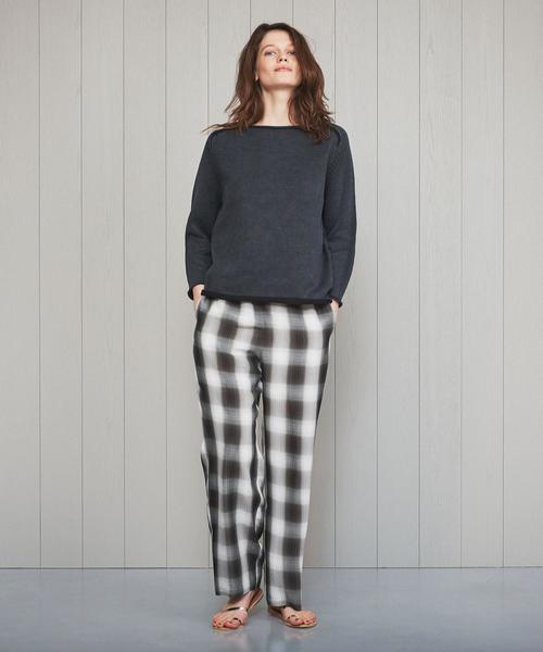 <H>OMBRE CHECK PANTS/パンツ.
