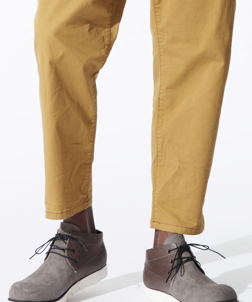 OURET(オーレット)の「20 CHINO STRETCH SLASH POCKET UNCLE CUT TAPERED PANTS(チノパンツ)」|詳細画像