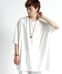 MONO-MART(モノマート)のスーパーオーバーサイズ ドロップショルダー カットソー ビッグシルエット Tシャツ(Tシャツ/カットソー)