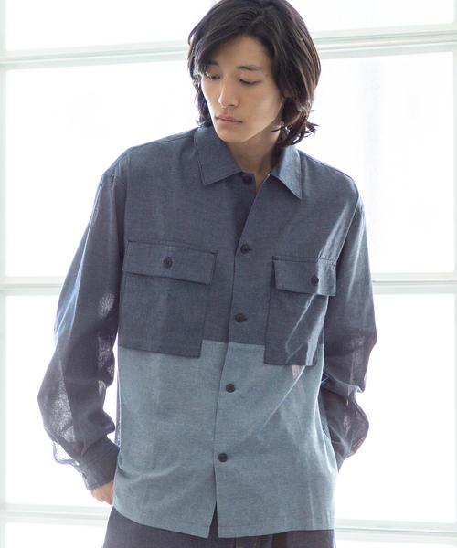 切替ミリタリーシャツ2