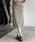 Heather(ヘザー)の「サスツキチェックIラインスカート 853562(スカート)」|ブラック系その他