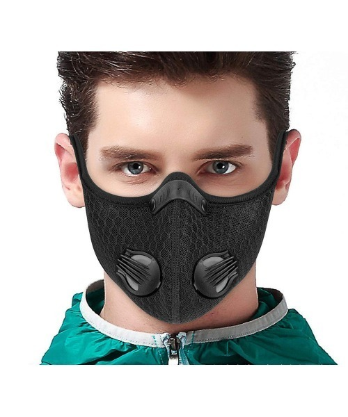 通気口付 マスクカバー 防塵ダブルバルブ サマーマスク カバー