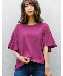 Re:EDIT(リエディ)のフレアスリーブカットソーポンチブラウス(Tシャツ/カットソー)