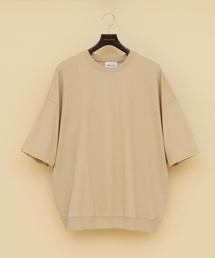 EMMA CLOTHES(エマクローズ)のカットオフスリーブ ワイドプルオーバー  1/2 sleeve(スウェット)