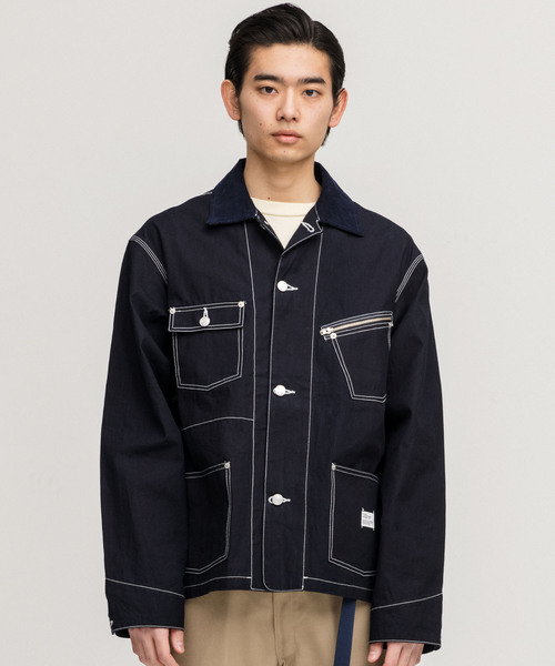 【あす楽対応】 CHAMBRAY COVERALL JACKET